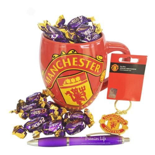 Father/'s Day FC Ensemble Cadeau Avec Mug porte-clés//assainisseurs d/'air et Cadbury Eclairs