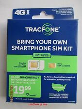 TRACFONE BYOP Bring Your Own Phone Sim Card Activation Kit Triple Minutes 4 Life