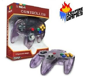 atomic purple n64 controller new in box (nintendo 64) classicimage is loading atomic purple n64 controller new in box nintendo