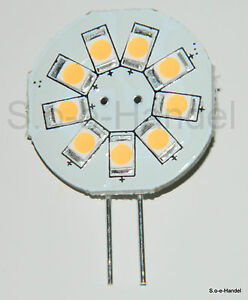 G4-LED-Leuchtmittel-23mm-12V-AC-DC-9SMD-1-5Watt-warmweiss