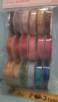 American Crafts Value Pack Ribbons Glitter Ribbon 4-ft Rolls, 18 Ct 89426
