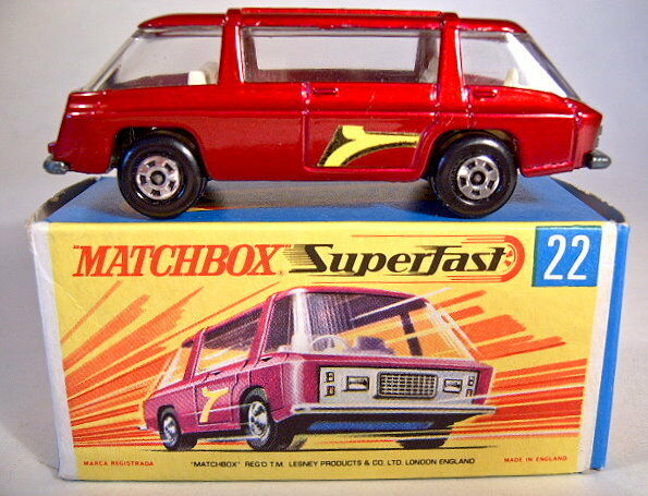 Matchbox Superfast No.22B Freeman Intercity dark metallic red mint boxed