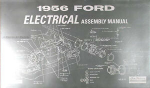 details about 1956 ford car electrical assembly manual 56 wiring diagrams factory schematics 1956 ford wagon car wiring diagram