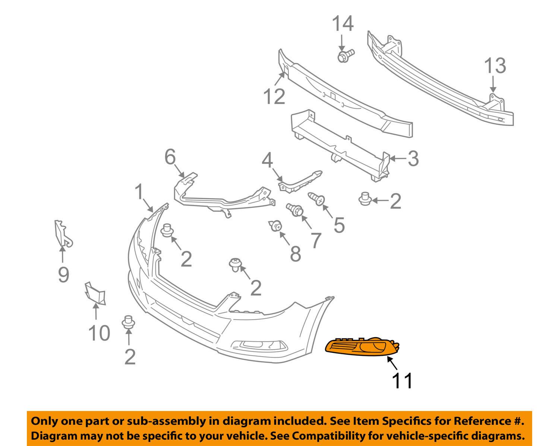 OEM NEW 2013-2014 Genuine Subaru Legacy Driver Sd Fog Light Cover 57731AJ72A