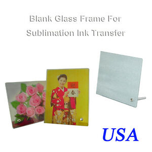 4Pcs 7x9inch Glass Photo Picture Frame Sublimation Ink Printing Flat Transfer