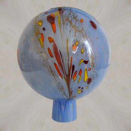 Gartenkugel aus Glas 12 //15 cm Ø Hellblau Rosenkugel