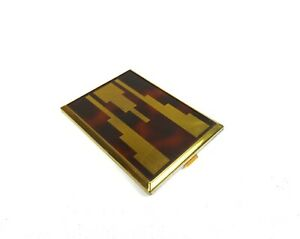 RARE-ART-DECO-FRENCH-VANITY-CASE-CUBIST-ENAMEL-POWDER-SKYSCRAPER-1930