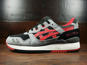 45bbc39f22 Details about Asics GEL-LYTE III (Black / Classic Red) [H635L-9023] Kith  Tiger Running Mens