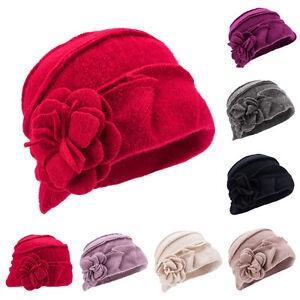 Ladies-Cloche-Hat-Soft-100-Wool-1920s-30s-Downton-Abbey-Style-Winter-Cap-A376