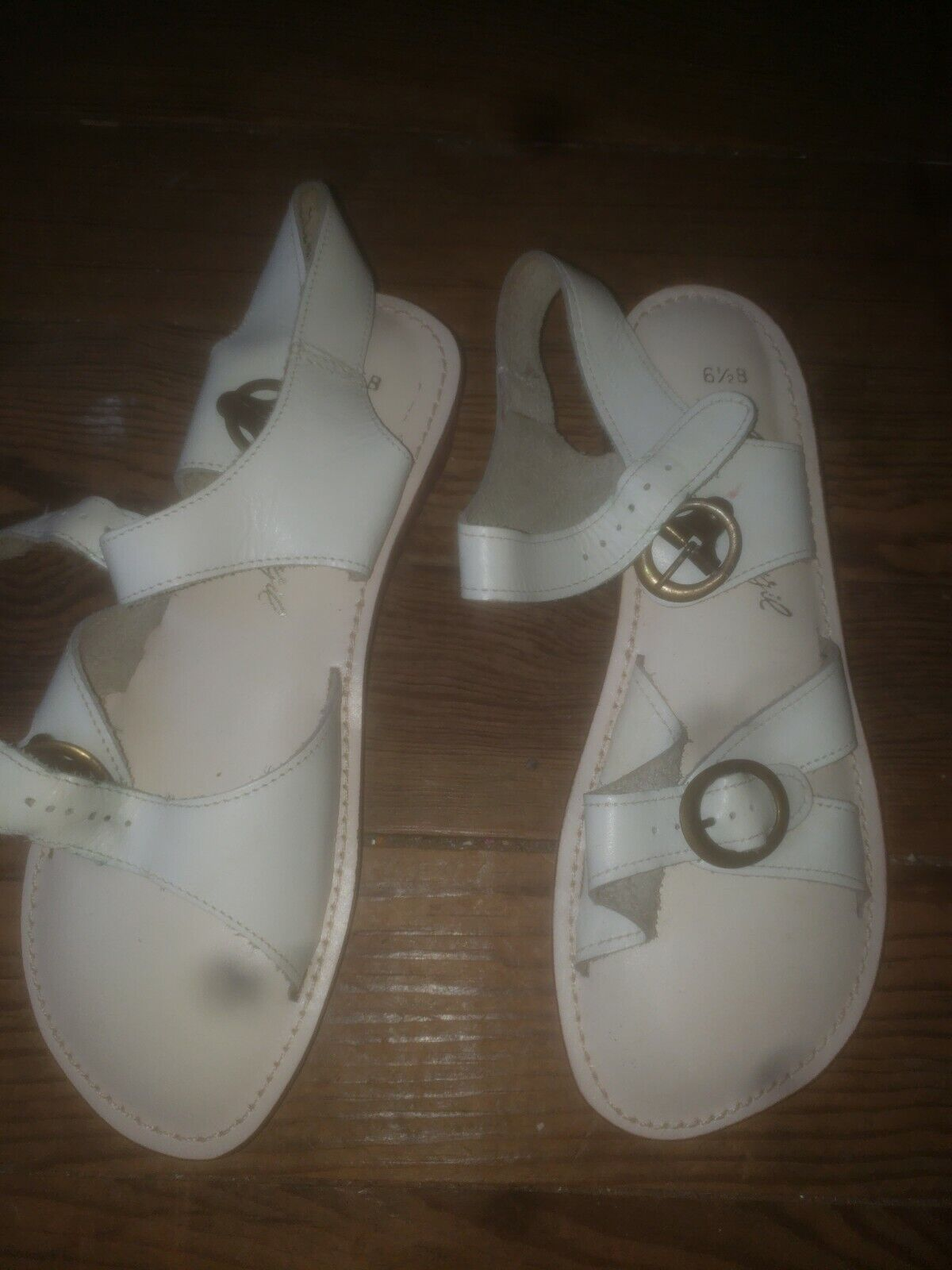 NOS Never Worn Sandals Womens 6.5  40s 50s 60s 70… - image 1