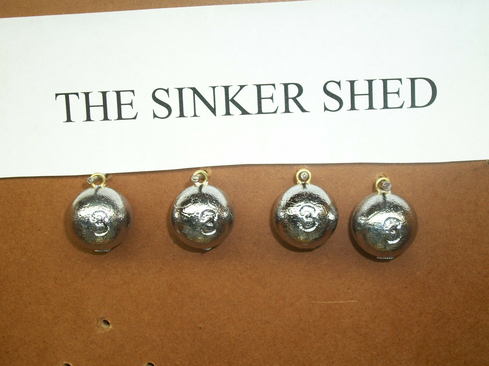 3 oz cannon ball sinkers - choose quantity 12 25 50 100 200 - FREE SHIPPING