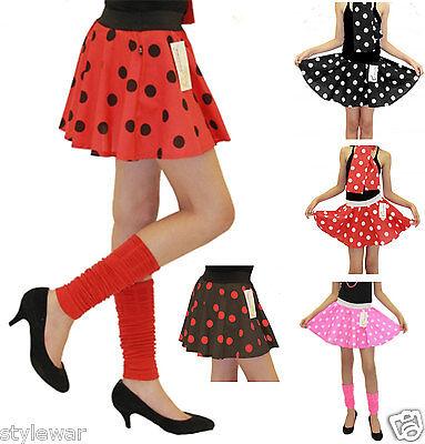 Girls Polka Dot Rock n Roll 50s Skirt /& Scarf Fancy Dress Jive Costume