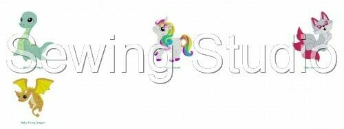 MACHINE EMBROIDERY DESIGNS ON CD OR USB BABY MYTHICAL CREATURES DESIGNS