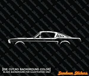 Image Is Loading 2x Car Silhouette Stickers For Ford Mustang 1965