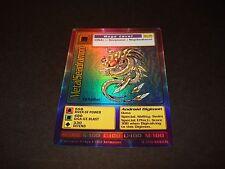 BANDAI DIGIMON HOLO / FOIL CARD BO-35 METALSEADRAMON-GOOD CONDITION-1ST ED.