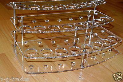 3 TIER  24 HOLES Stand Holder Display Acrylic ECIG Ego E-Cig Vapor Vaporizer