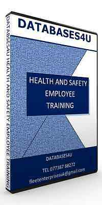 Health & Safety & Employee Training Database Software EASY TO USE