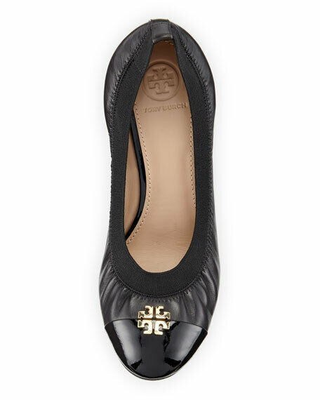 285 New TORY BURCH Jolie Wedge shoes,8,Logo,Dust,Black shoes,8,Logo,Dust,Black shoes,8,Logo,Dust,Black Pump,Toe cap,NIB bdd5c1
