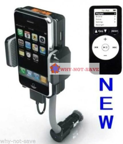 FM Transmitter & Car Charger for iPod touch Iphone Nano 2 3 3Gs 4 4s classic 5