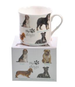NEW-Dog-Breeds-Fine-Bone-China-PRINCESS-Tea-Coffee-Mug-Cup-Beagle-Chihuahua