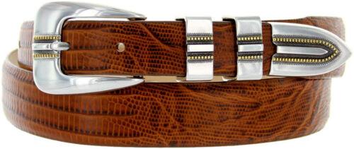 """Vincente en cuir italien Designer Robe Ceinture 1-1//8/"""" à 1/"""" Largeur Noir Marron Tan"""