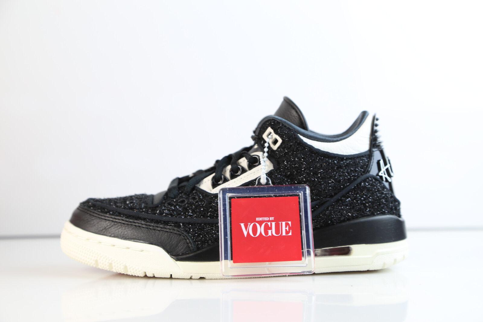 Para mujer Air Jordan Retro 3 RTR RTR RTR se NRG Vogue awok Negro Blanco BQ3195-001 5-12 1 8d786a