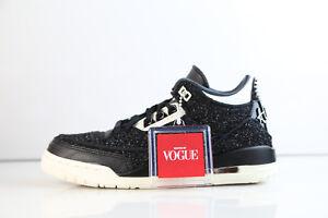 3b59aaa7526 Womens Air Jordan Retro 3 RTR SE NRG Vogue AWOK Black White BQ3195 ...