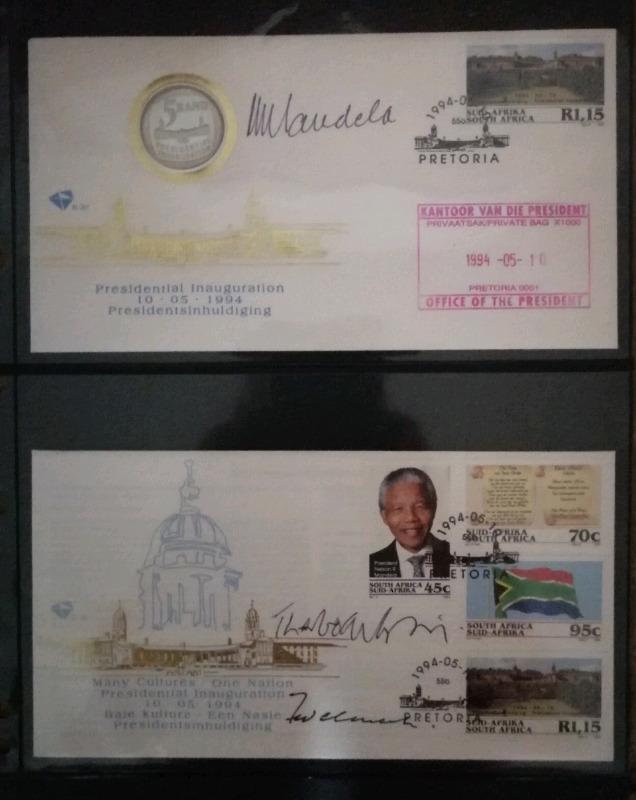 Mandela Inauguration Authenticated Signed FDC plus Mbeki & de Kler