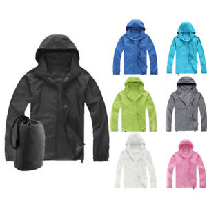 95fba6ab9 Image is loading Women-Travel-Windproof-Jacket-Men-Lightweight -Outdoor-Bicycle-