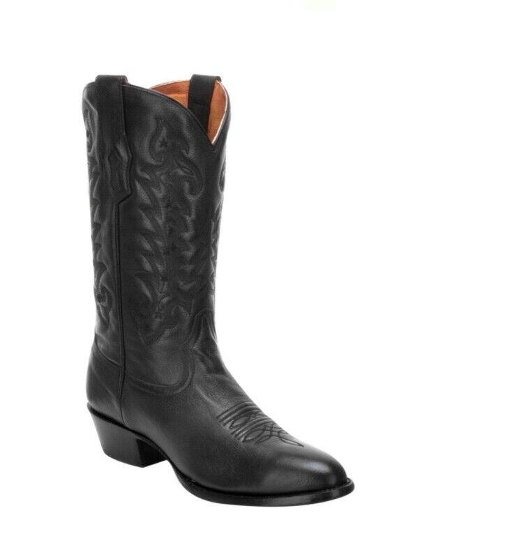 Corral Herren Rund Komfort Cowboy Western Stiefel Schwarzes Leder A3295