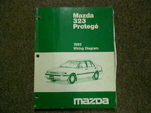 1993 mazda 323 protege electrical wiring diagram service repair shop SYM CDI Ignition Wiring Diagram