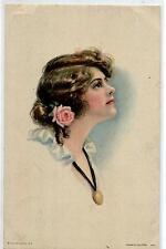 ALICE FIDLER American Girl N° 109 Donnina Glamour Girl Rose PC Viaggiata 1920