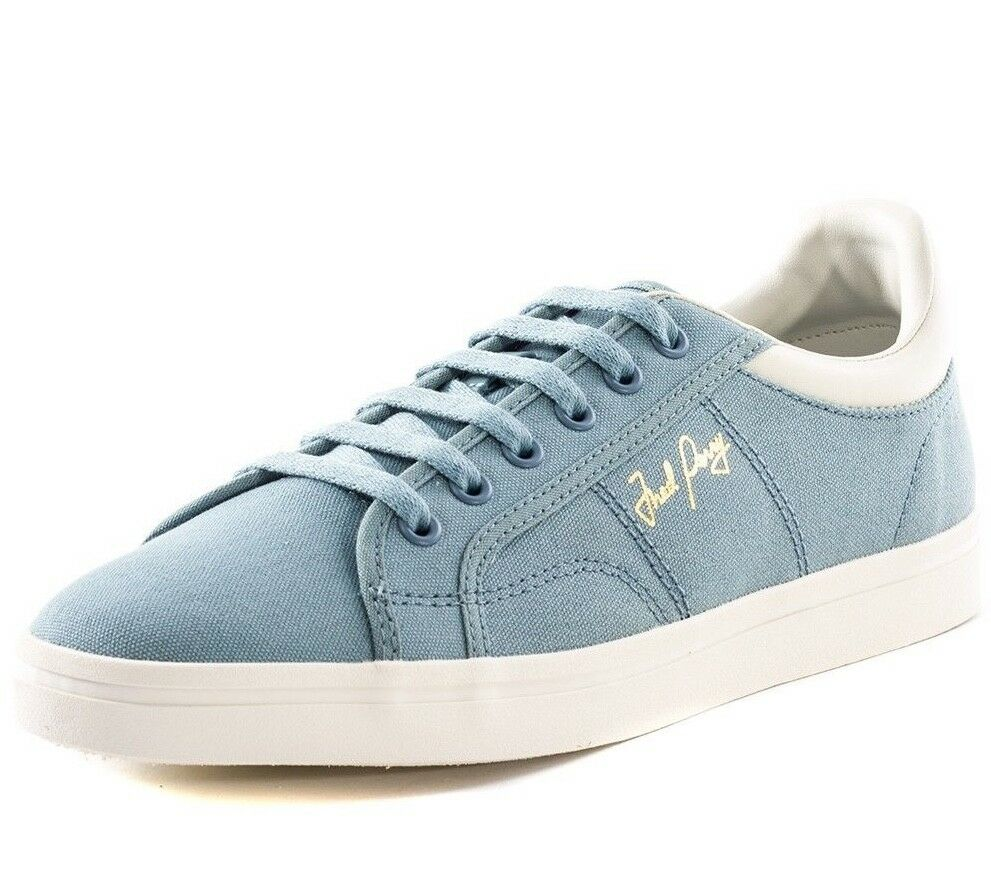 Fred Perry Men's Sidespin Canvas Trainers Shoes B8244-C54 - Sub Blue