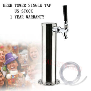 Single-Tap-Draft-Beer-Tower-One-Faucet-Stainless-Steel-Homebrew-for-Kegerator-US