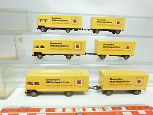 BJ471-0-5-3x-Wiking-H0-1-87-500-LKW-Mercedes-Benz-MB-Moebel-Ferntransport-OVP