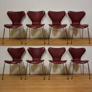 Awesome Details About Red Leather And Chrome Dining Chairs Set Of 8 Mid Century Dailytribune Chair Design For Home Dailytribuneorg