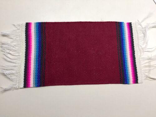 1 1-Mini Mexican blanket 17x 9cm party decoration favor giveaway sarape coaster