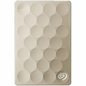 Seagate 2TB Backup Plus Ultra Slim Portable Hard Drive Gold 763649089576