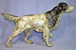 ENGLISH SETTER POINTER DOG CAST IRON DOORSTOP STATUE ~ Hunting Dog ~