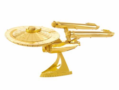 Star Trek Metallbausatz USS Enterprise 1701 gold 50 Jahre limitierte Sonderaufla