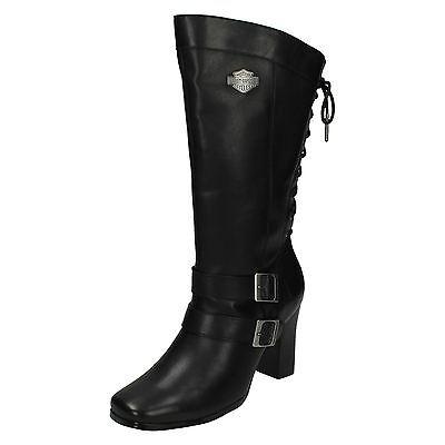 Donna Harley Davidson Shelia Tacco Alto Zip Stivali Alti Al