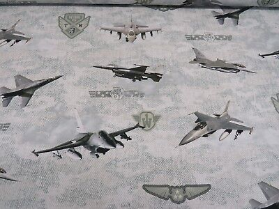 Biggles Planes Cotton Curtain//Craft Fabric