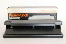 Vintage Wilson Jones 203b 3 Hole Adjustable Paper Punch Desk Office Made In Usa
