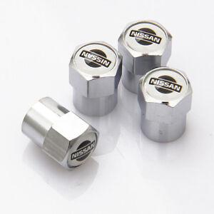 4 X ARGENTO CROMATO TAPPI Polvere Valvola Pneumatico si adatta GTR