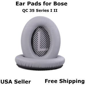 Ear-Cushion-Pads-Pair-Silver-for-Bose-QuietComfort-QC-35-Series-I-II-Free-Ship