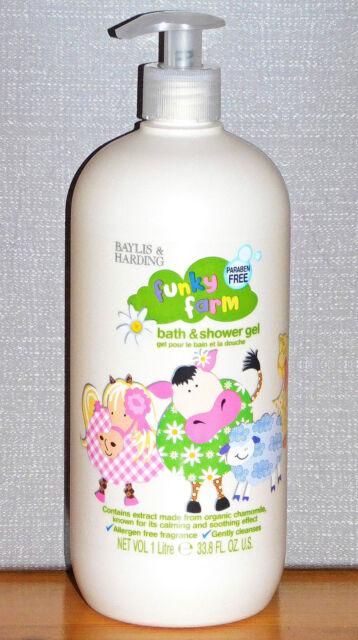 1 Liter Baylis & Harding Funky Farm entspannendes Bade- & Duschgel für Kinder