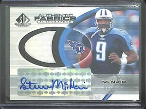 new arrival 040f3 a533f Details about 2004 Upper Deck Game Used Relic Autograph #AAF-SM Steve  McNair No 2 of 100