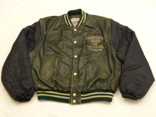 Gilet Di L Clipper Tg Redskins Yankee Giacca 1972 Green League Vintage Pelle wIB6q74