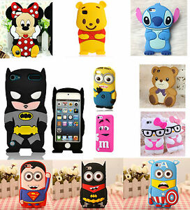 For-IPHONE-Models-3D-Cute-Cartoon-Funny-Soft-Gel-Fun-Cute-Case-Cover-Collection