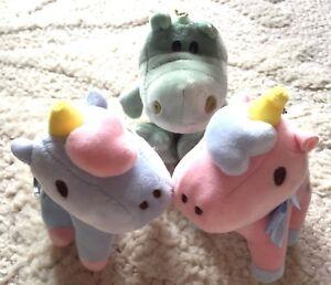 Animal-Stuffed-Soft-Plush-Toy-Key-Charm-Unicorn-Alligator-Gator-Ring-Bag-JAPAN